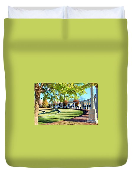Duvet Cover featuring the photograph Newnan Park Ampitheatre by Roberta Byram