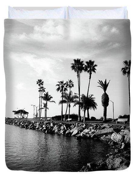 Newport Beach Jetty Duvet Cover