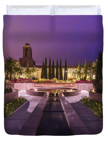 Duvet Cover featuring the photograph Newport Beach Temple by Dustin  LeFevre