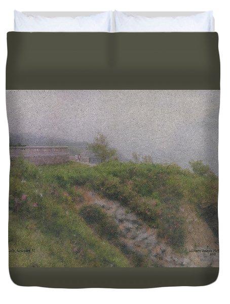 Newport Cliff Walk In The Fog Duvet Cover