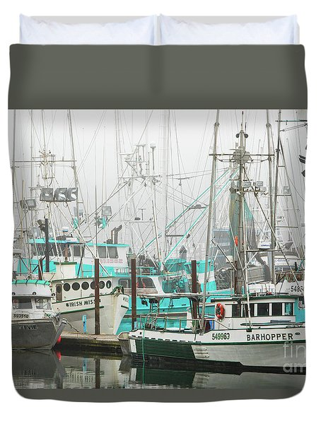 Newport, Oregon Fishing Fleet Duvet Cover by Jerry Fornarotto