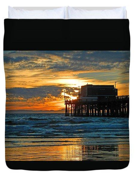 Newport Pier,  California Duvet Cover