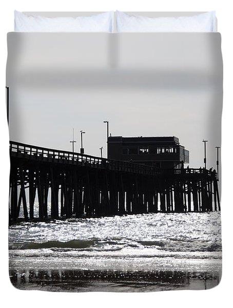 Newport Pier Duvet Cover by Paul Velgos