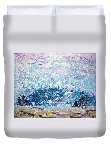 Duvet Cover featuring the painting Newport Wedge by William Love