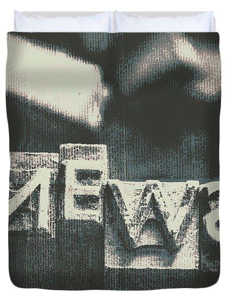 Newspaper Printing Press Art Duvet Cover
