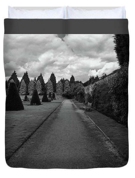 Newstead Abbey Country Garden Gravel Path Duvet Cover