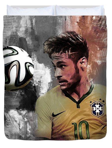 Neymar 051a Duvet Cover by Gull G