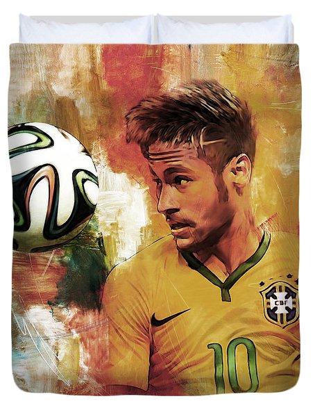 Neymar 05d Duvet Cover by Gull G