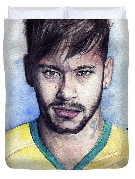Neymar Duvet Cover