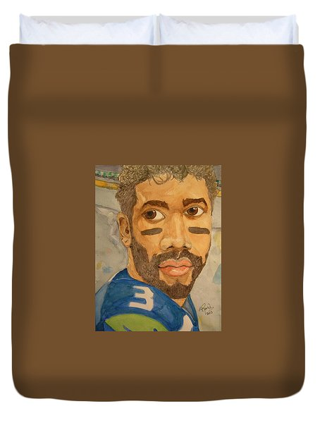 New School Football Seattle Duvet Cover by Rand Swift