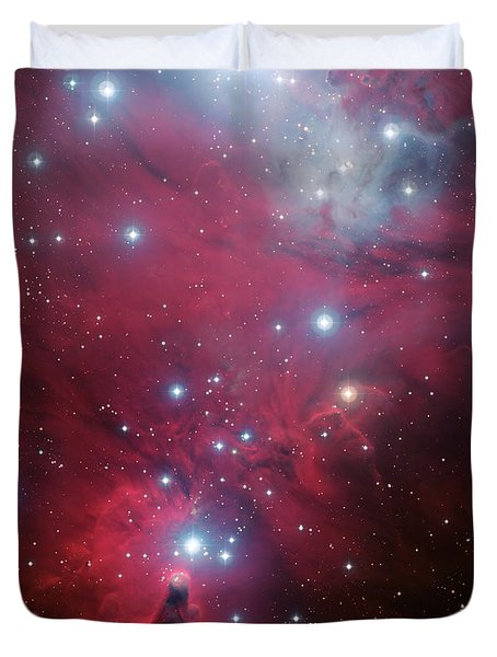Duvet Cover featuring the photograph Ngc 2264 And The Christmas Tree Star Cluster by Eso