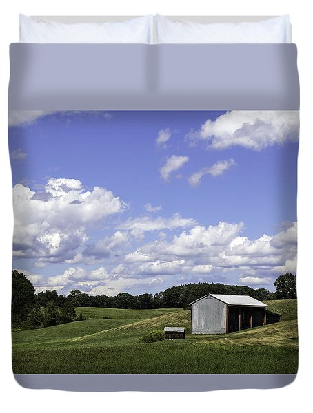 Duvet Cover featuring the photograph Nh Farm Scene by Betty Denise