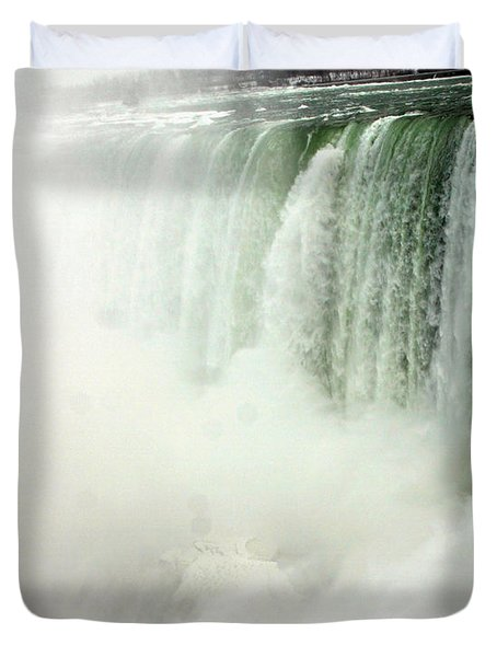 Niagara Falls 4 Duvet Cover by Anthony Jones