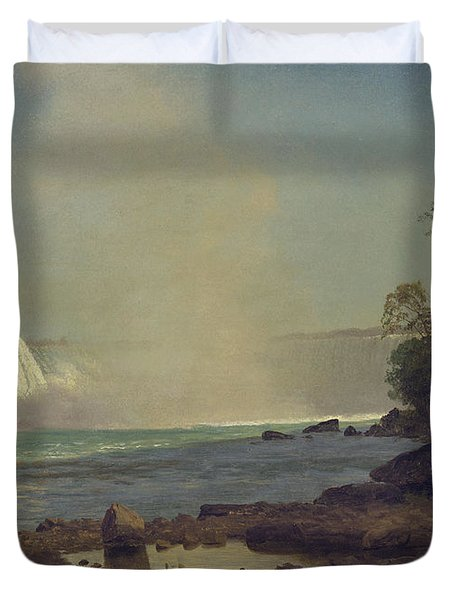 Niagara Falls Duvet Cover by Albert Bierstadt