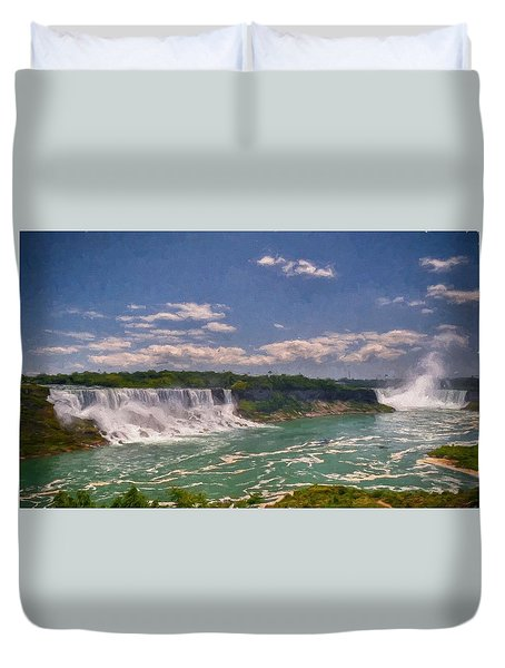 Fall In Niagara Falls Duvet Cover