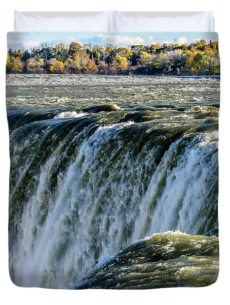 Niagara Falls In Autumn Duvet Cover