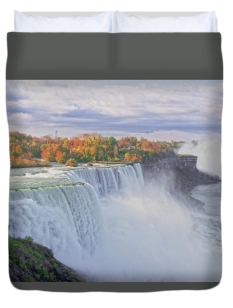 Niagara Falls In Autumn Duvet Cover