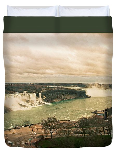Duvet Cover featuring the photograph Niagara Falls by Mary Machare