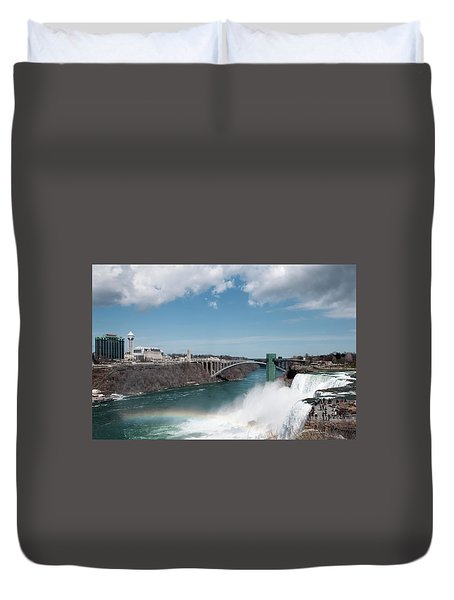 Niagara Falls New York Duvet Cover