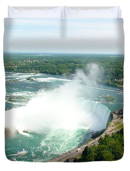 Duvet Cover featuring the photograph Niagara Falls Ontario by Charles Kraus