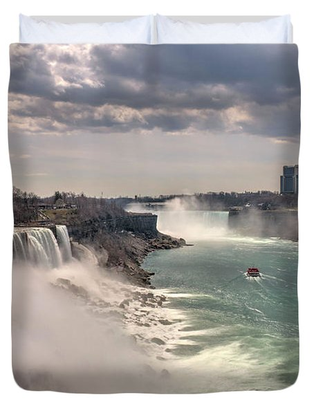Niagra Waterfalls Duvet Cover