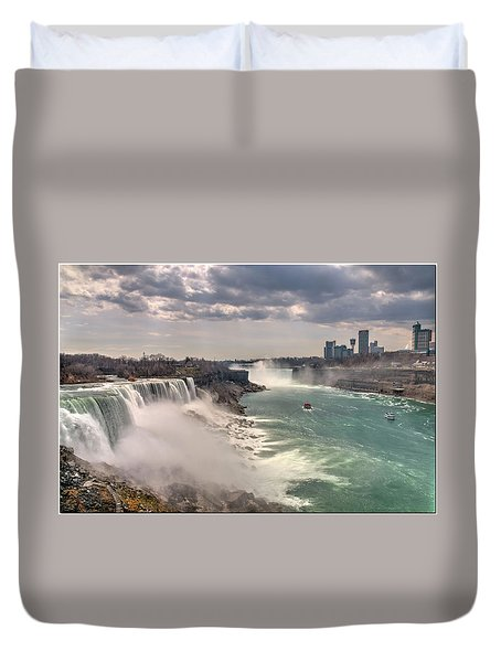 Niagra Waterfalls Duvet Cover