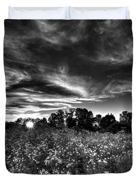Nice And Cloudy At Sunset Duvet Cover