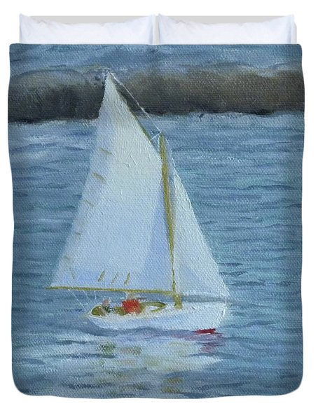 Nice Day For A Sail Duvet Cover
