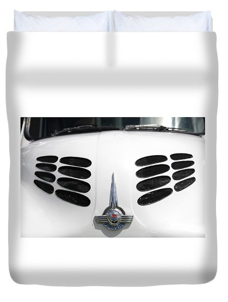 Duvet Cover featuring the photograph Nice Grills by Stephen Mitchell