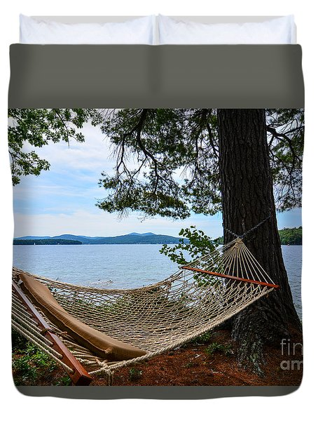 Nice Spot For A Nap Duvet Cover by Mim White