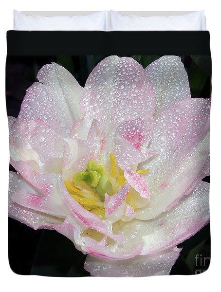 Duvet Cover featuring the photograph Nice Tulip by Elvira Ladocki