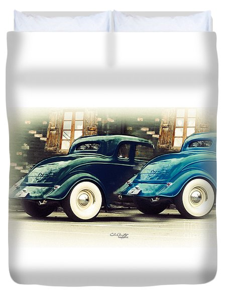 Duvet Cover featuring the photograph Nice Wheels by Chris Armytage