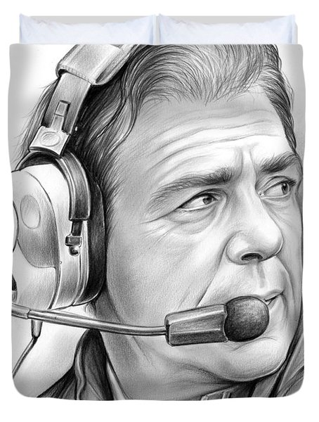 Nick Saban Duvet Cover