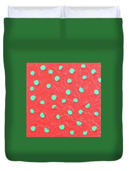 Nickels And Dimes Duvet Cover by Thomas Blood