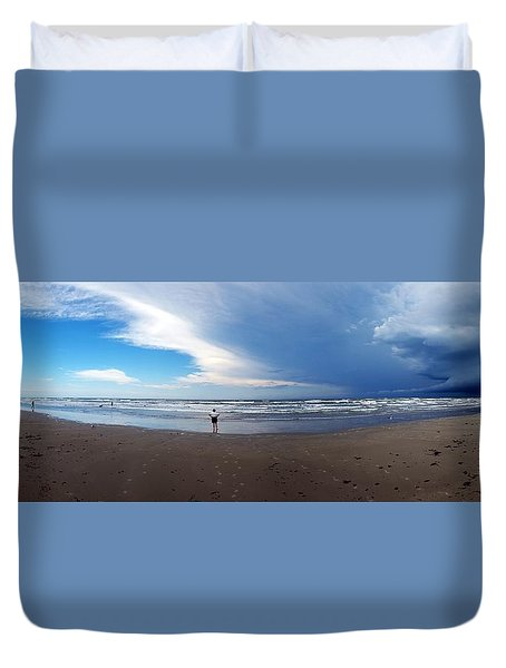 Nicki At Port Aransas Duvet Cover