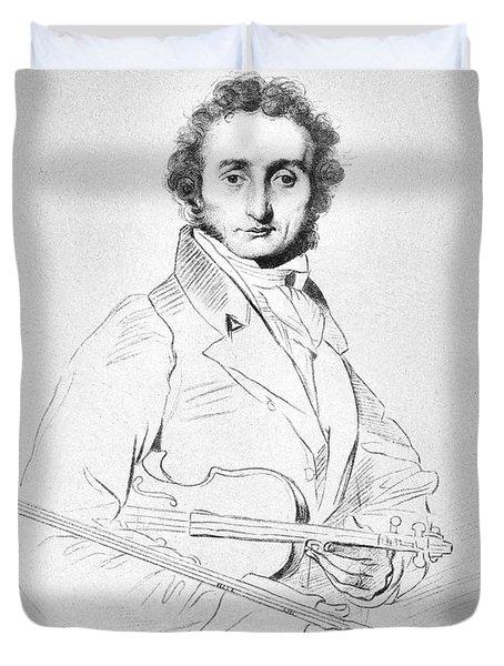 Nicolo Paganini (1782-1840) Duvet Cover