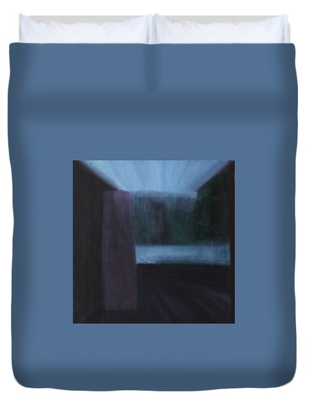 Duvet Cover featuring the painting Nietzsche by Min Zou