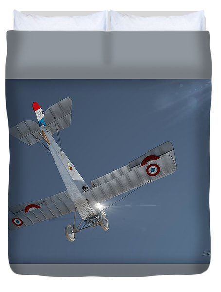 Nieuport 17 In The Blue Sky Duvet Cover by David Collins