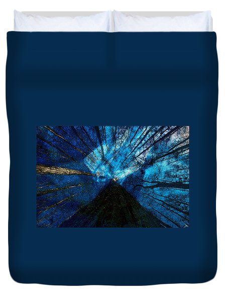Duvet Cover featuring the painting Night Angel by David Lee Thompson