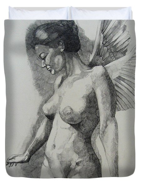 Night Angel Duvet Cover by Ray Agius