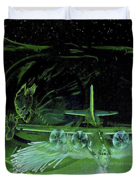 Night Angels Duvet Cover by Todd Krasovetz