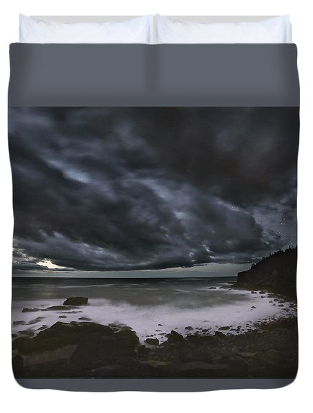 Night At Boulder Beach Duvet Cover
