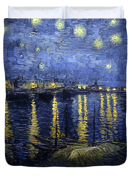 Night At The Lake Duvet Cover