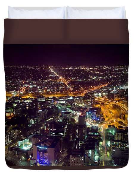 Night Auckland Duvet Cover by Martin Capek