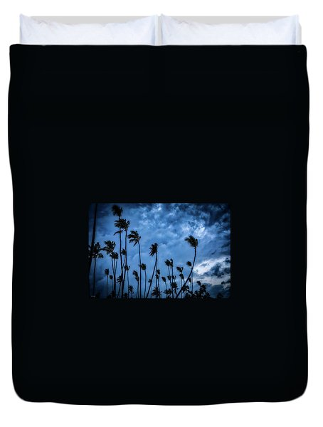 Night Beach Duvet Cover