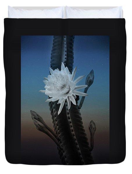 Night Bloom Duvet Cover
