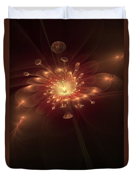 Night Bloom Duvet Cover by Svetlana Nikolova