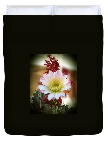 Duvet Cover featuring the photograph Night-blooming Cereus 2 by Marilyn Smith
