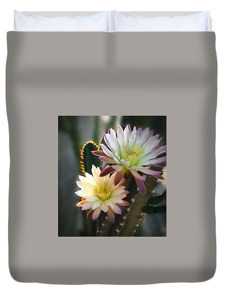 Duvet Cover featuring the photograph Night-blooming Cereus 3 by Marilyn Smith