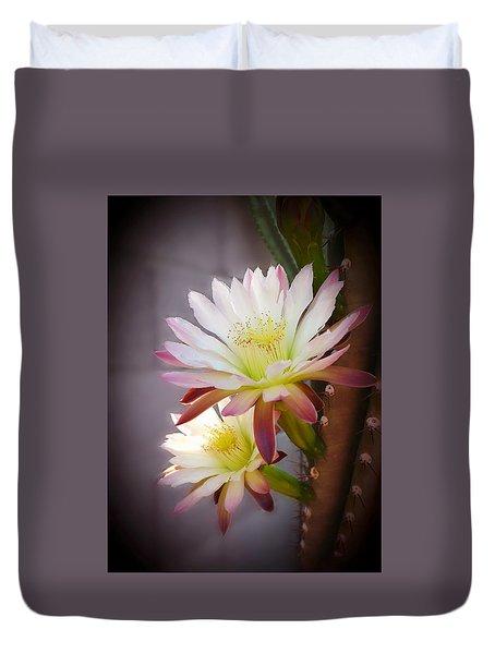 Night Blooming Cereus Duvet Cover